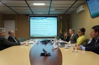 Técnicos da Secretaria de Desenvolvimento Econômico reuniram-se na Sala do Investidor com empresários da Enerbio - Foto: Divulgação/Sdect